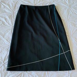 Ann Taylor Loft Black Modern Skirt